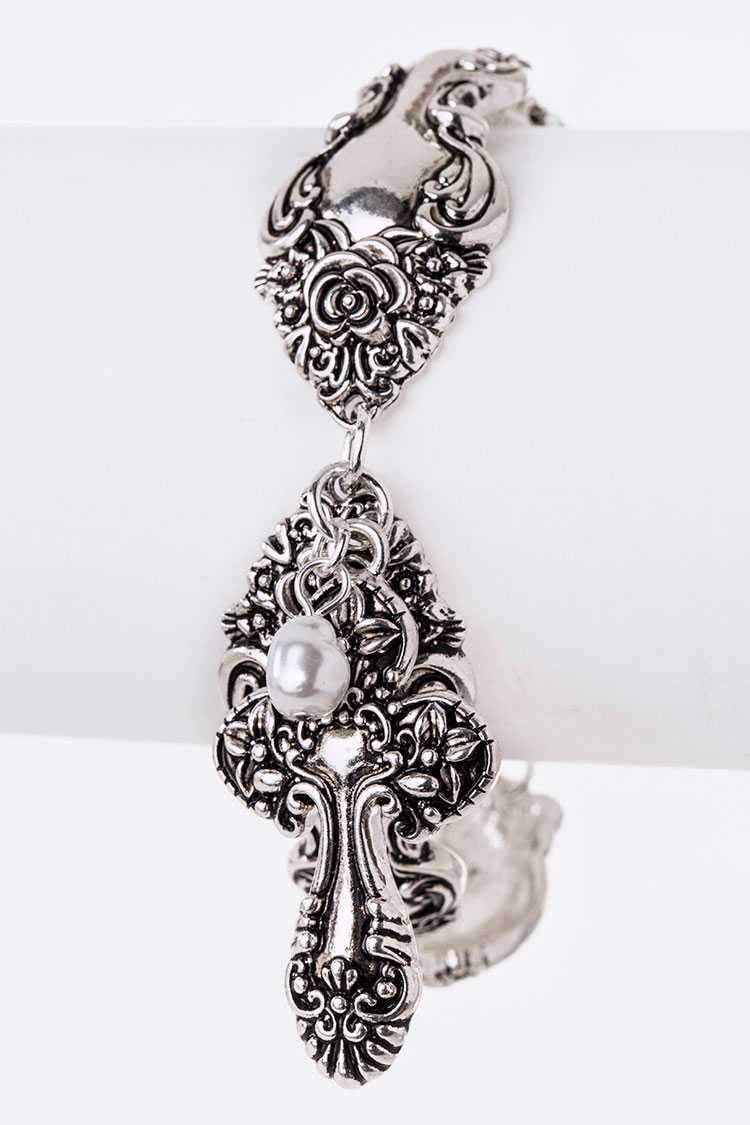 Cross Pendant  Iconic Spoon Western Bracelet