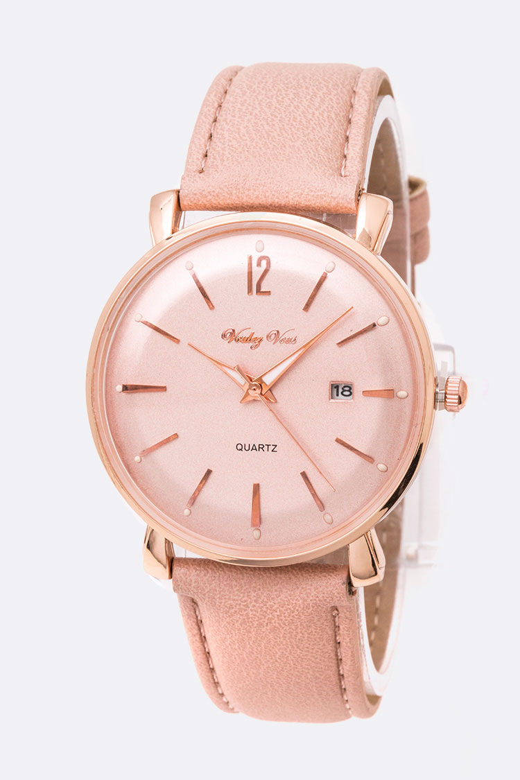 Dated Classic Leather Band Fashion Watch