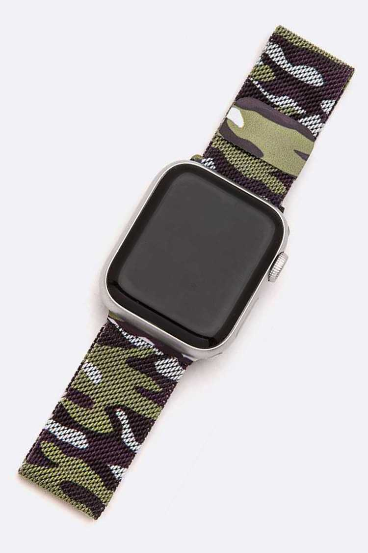 Camouflage 38MM Apple Watch Compatible Magnetic Mesh Band