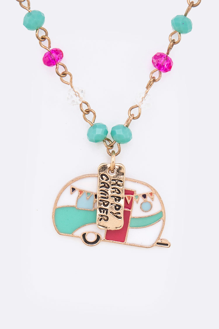 Happy Camper Iconic Pendant Necklace Set