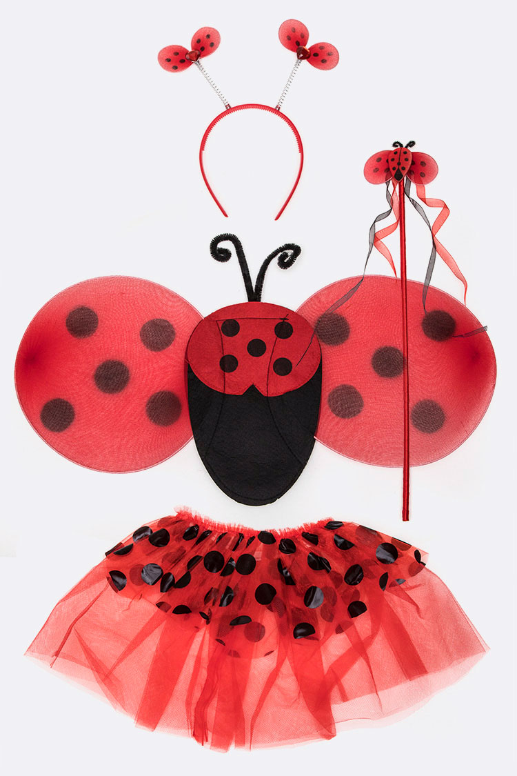 Kids Ladybug 4 PC Dress Up Set