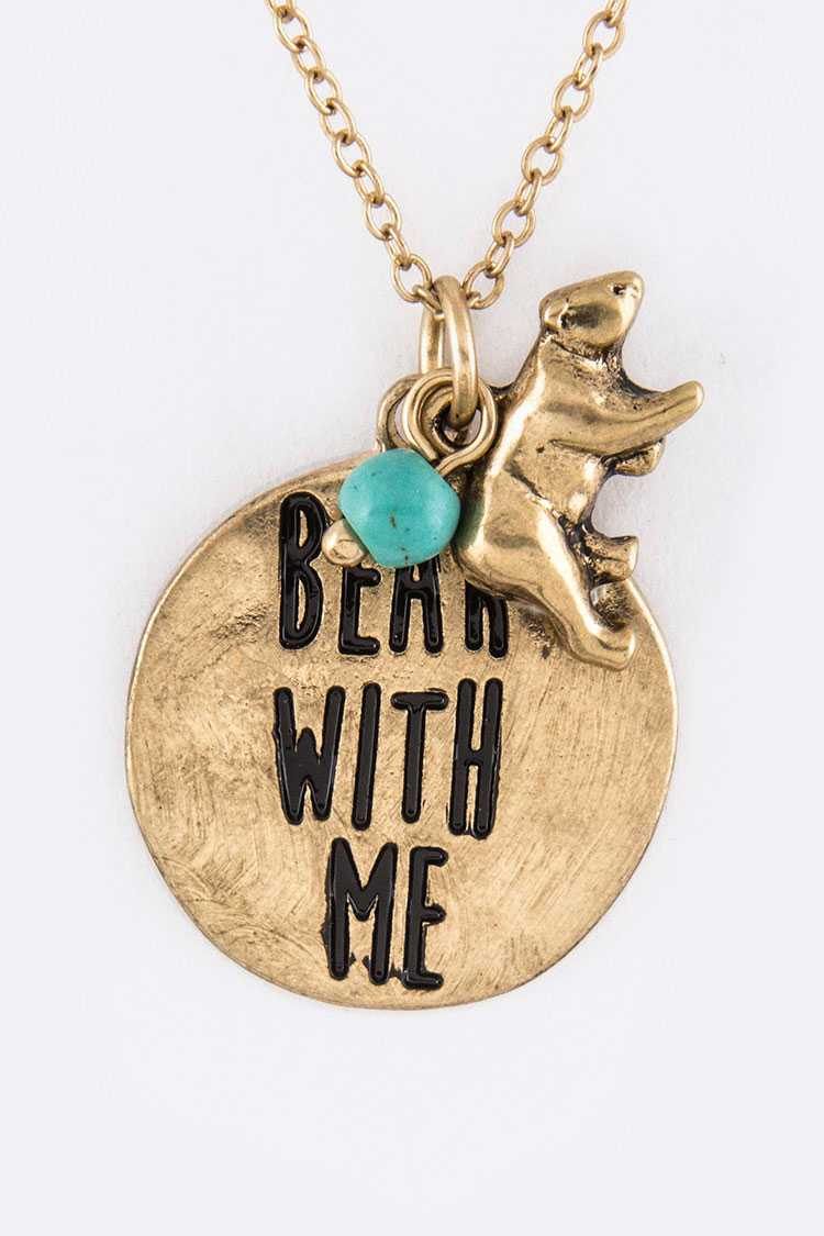 BEAR WITH ME Mix Charms Necklace Set