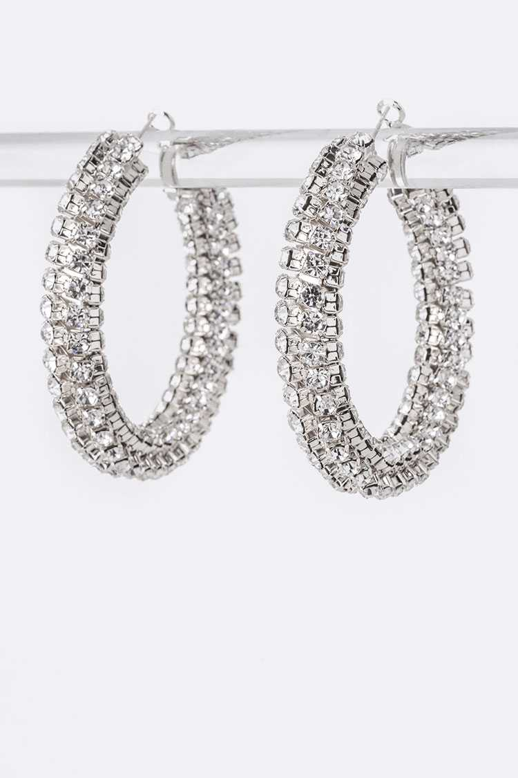 Rhinestone Iconic Hoop Earrings