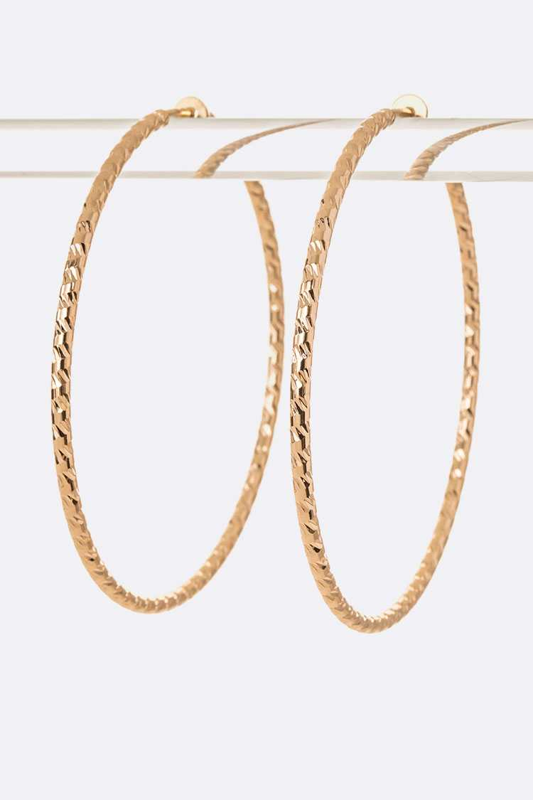70MM Clip On Hoop Earrings