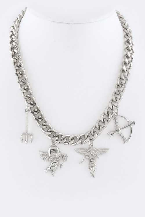 Good Girl Bad Girl Mix Charms Iconic Necklace