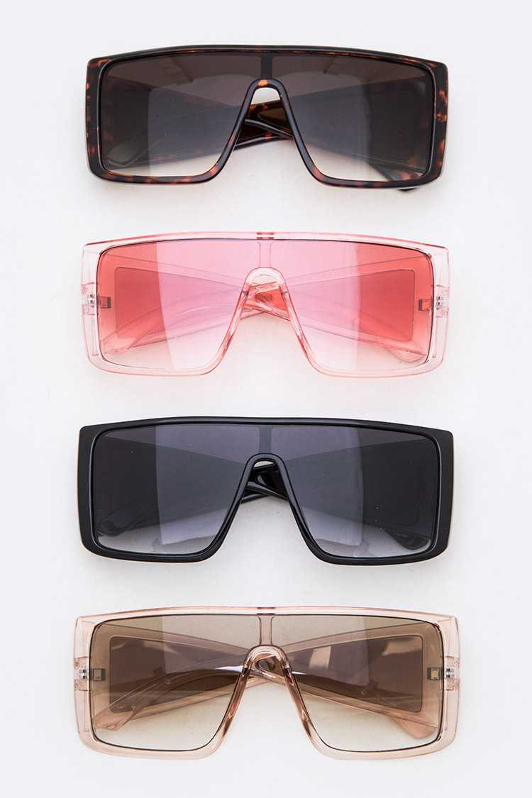 Shield Inspired Oversize Sunglasses Set