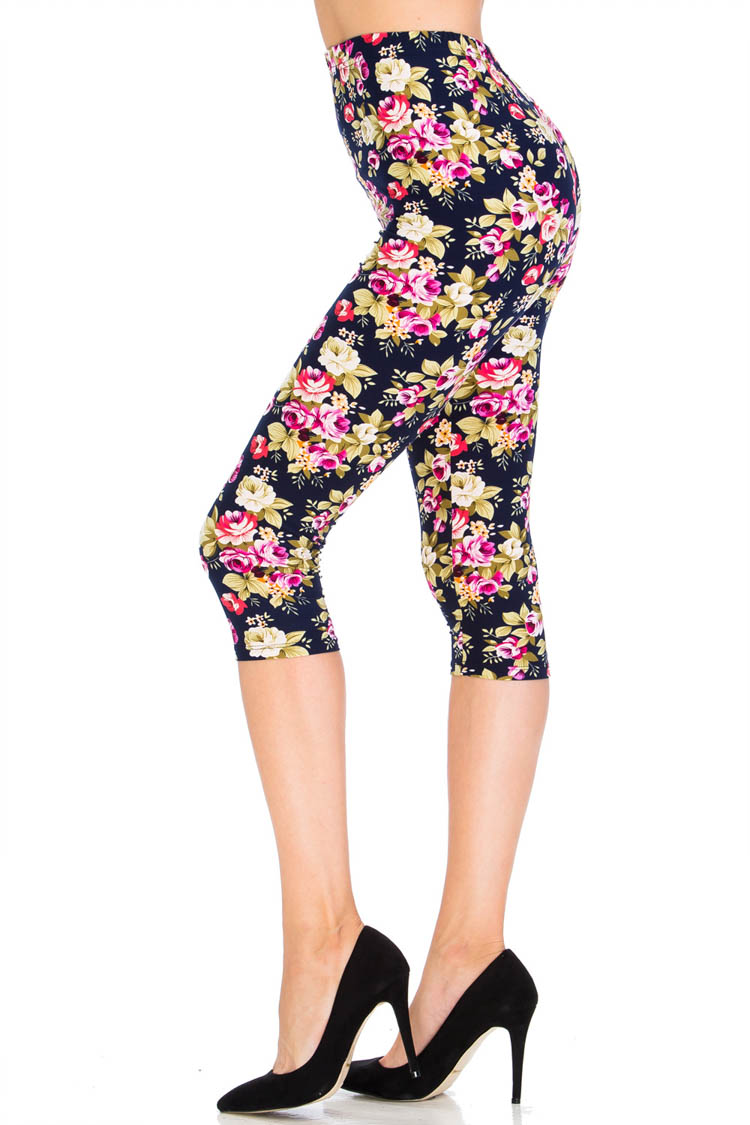 Happy Flower Capri Leggings