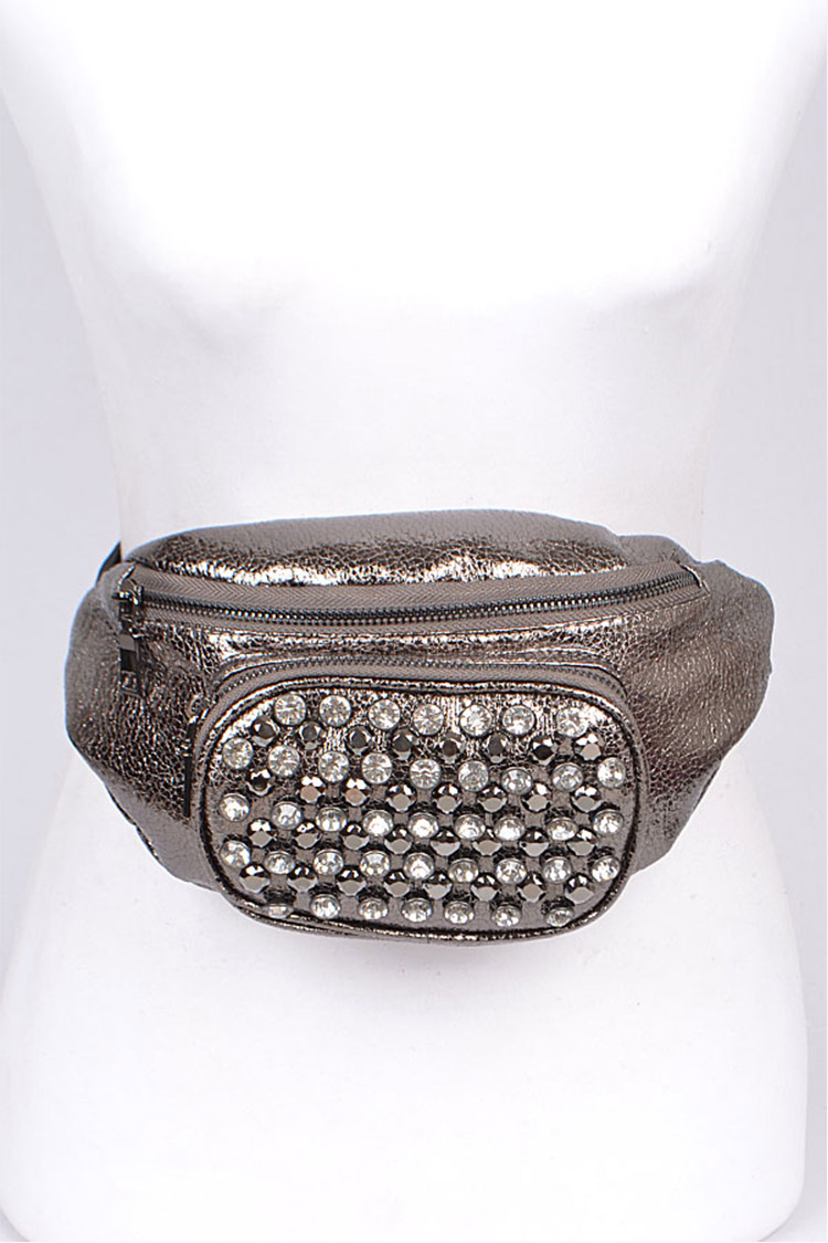 Metallic Studded Iconic Fanny Pack